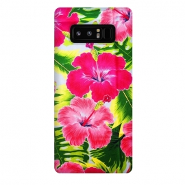 Galaxy Note 8  Hibiscus Exotic Floral Pattern by BluedarkArt