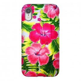 iPhone Xr  Hibiscus Exotic Floral Pattern by BluedarkArt