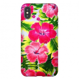 iPhone Xs Max  Hibiscus Exotic Floral Pattern by BluedarkArt