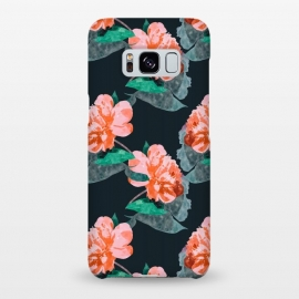 Galaxy S8+  The Joy Of Missing Out by Uma Prabhakar Gokhale (watercolor, floral, nature, botanical, garden, fall, blossom, bloom, summer, blush, leaves, petals, joy, beautiful)