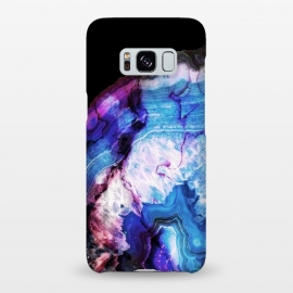 Galaxy S8+  Dark blue purple agate marble  by Oana