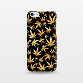 iPhone 5C  Weed Pattern - Black and Yellow by Art Design Works
