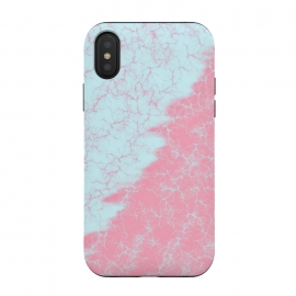 iPhone Xs / X  Light blue and pink by