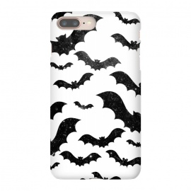 Black starry night sky bats - Halloween by Oana