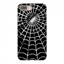 Black and white textured brushed spider web - Halloween by Oana