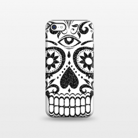 iPhone 5C  Black glitter decorated floral sugar skull - Halloween by Oana