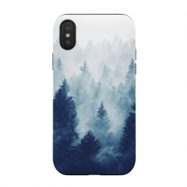 iPhone Xs / X  Foggy Woods I by ''CVogiatzi. (cvogiatzi, cv, new, design, woods, forest, green, dark, wild, nature, firs, fog, lost, wanterland, landscape, adventure, mountain, mountains, trees, mystical, magical, decor, art, trend, style, modern, boho, free, life, vibes)