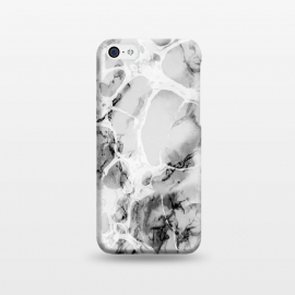 iPhone 5C  White gray marble artistic texture by Oana