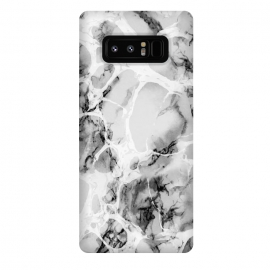 Galaxy Note 8  White gray marble artistic texture by Oana