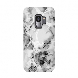 Galaxy S9  White gray marble artistic texture by Oana