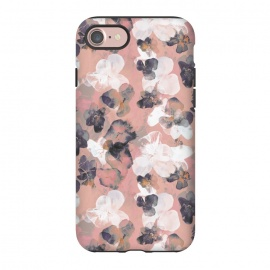 iPhone 8/7  White pink transparent pansy petals painting by Oana