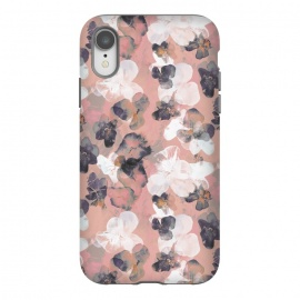 iPhone Xr  White pink transparent pansy petals painting by Oana