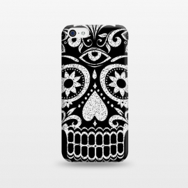 White glitter day of the dead sugar skull - Halloween by Oana