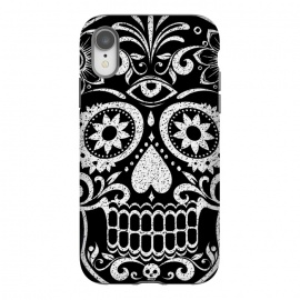 iPhone Xr  White glitter day of the dead sugar skull - Halloween by Oana