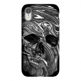 iPhone Xr  Black and white marble skull - Halloween by Oana