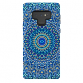 Galaxy Note 9  Mandala XII by Art Design Works (case, arts cases, phone, digital, print, gift, detail, color, colors, vivid, iphone, samsung, style, art design works, graphic, unique, trendy, trends, graphics,Mandala,Digital,Acrylic,Pattern,Chakra,Detail,Elements,Decorative,Print,Colors,Yellow,Colorful,Blue,Design,Abstract,Modern,Art,Artwork,Arti)