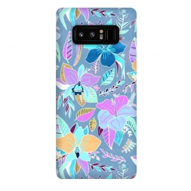Galaxy Note 8  Pastel Tropical Floral by Tigatiga