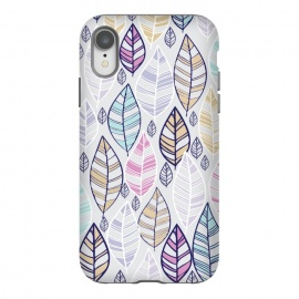iPhone Xr  colored feathers by Rose Halsey (leaves,colored ,white,colors,boho)