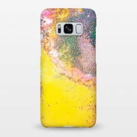 Galaxy S8+  Random Bliss by Uma Prabhakar Gokhale (graphic design, abstract, modern, random, agate, crystal, stones, nature, yellow, bold colors, colorful, magic, glitter, gold, confetti, fall, celebration)