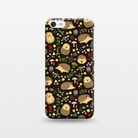 iPhone 5C  Hedgehogs amid woodland plants and flowers by Portia Monberg