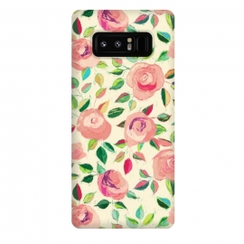 Galaxy Note 8  Pink and Peach Rose Pattern in Pastels by Micklyn Le Feuvre