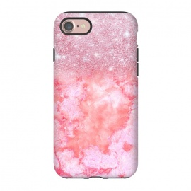 iPhone 8/7  Glitter on Pink Blush Agate  by Utart