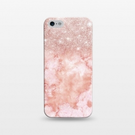 iPhone 5/5E/5s  Glitter on Blush Agate by Utart