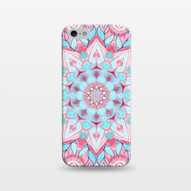 iPhone 5/5E/5s  Bright Boho Aqua and Pink Mandala by Micklyn Le Feuvre