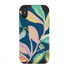 iPhone Xs / X  Leafs by Susanna Nousiainen (garden,leafs,modern leaf,painted,graphic)