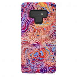 Galaxy Note 9   Abstract Colorful Marble II by Art Design Works ( Abstract Colorful Marble II,arts cases,phone case,abstract,color,colors,iphone,samsung,gift,design,unique,modern,style,fresh,vivid,cool,print,art,tmarchev,art design works,skin,protector,artcase,texture,decorative,waves,cells,red,orange)