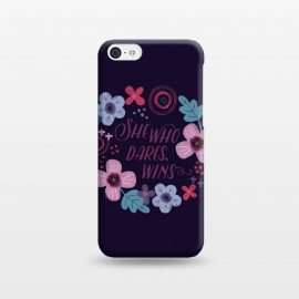iPhone 5C  She Who Dares, Wins by Noonday Design