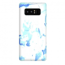 Galaxy Note 8  White and Blue by Ashley Camille