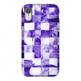 iPhone Xr  Grape Tiles by  (square, squares, tiles, tile, tiled, lines, grid, check, checks, digital, checker, checkers, pattern, plaid, abstract, texture,purple)