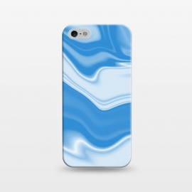 iPhone 5/5E/5s  DW Blue by Ashley Camille (wavy, digital, abstract, monochrome,blue)