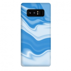 Galaxy Note 8  DW Blue by Ashley Camille (wavy, digital, abstract, monochrome,blue)