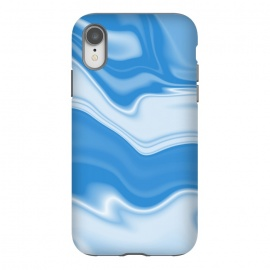 iPhone Xr  DW Blue by  (wavy, digital, abstract, monochrome,blue)