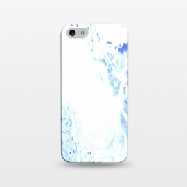 iPhone 5/5E/5s  Blue and White by Ashley Camille (abstract,blue,paint,textured,white)
