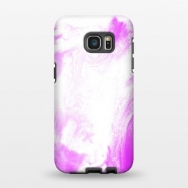 Galaxy S7 EDGE  Pink Paint by Ashley Camille (pink,white,abstract)