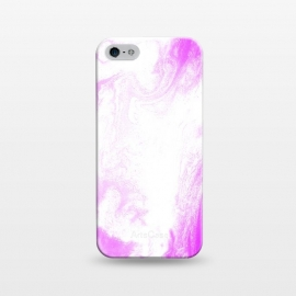 iPhone 5/5E/5s  Pink Paint by Ashley Camille (pink,white,abstract)