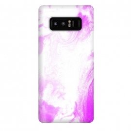 Galaxy Note 8  Pink Paint by Ashley Camille (pink,white,abstract)