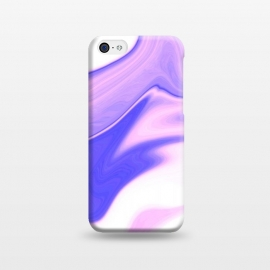 iPhone 5C  Pink, Purple and White by Ashley Camille (pink,purple,white,abstract,digital,wavy)