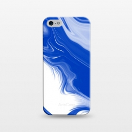 iPhone 5/5E/5s  Blue Waves by Ashley Camille (blue,digital,abstract,wavy)