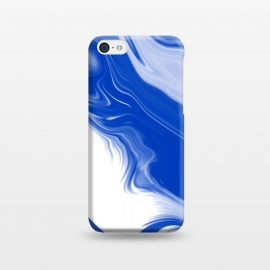 iPhone 5C  Blue Waves by Ashley Camille (blue,digital,abstract,wavy)
