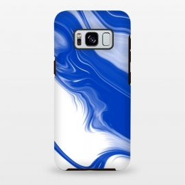 Galaxy S8+  Blue Waves by Ashley Camille (blue,digital,abstract,wavy)