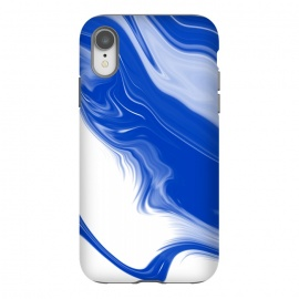 iPhone Xr  Blue Waves by  (blue,digital,abstract,wavy)