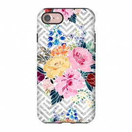 iPhone 8/7  Pretty winter floral and diamond geometric design by InovArts
