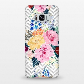 Galaxy S8+  Pretty winter floral and diamond geometric design by InovArts