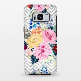 Galaxy S8 plus  Pretty winter floral and diamond geometric design by