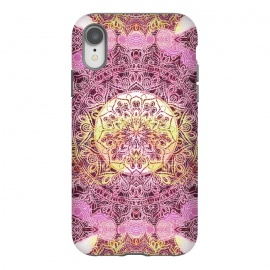 iPhone Xr  Pink yellow solar ethnic mandala drawing by Oana