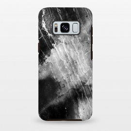 Galaxy S8+  Black gray faded marble painting by Oana